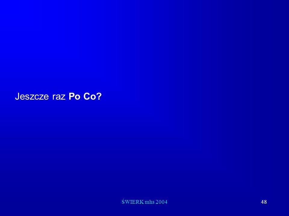 ŚWIERK mhs 200448 Jeszcze raz Po Co?
