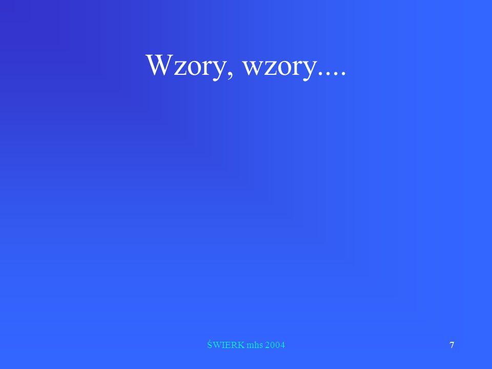 ŚWIERK mhs 20047 Wzory, wzory....