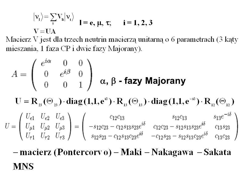 , - fazy Majorany