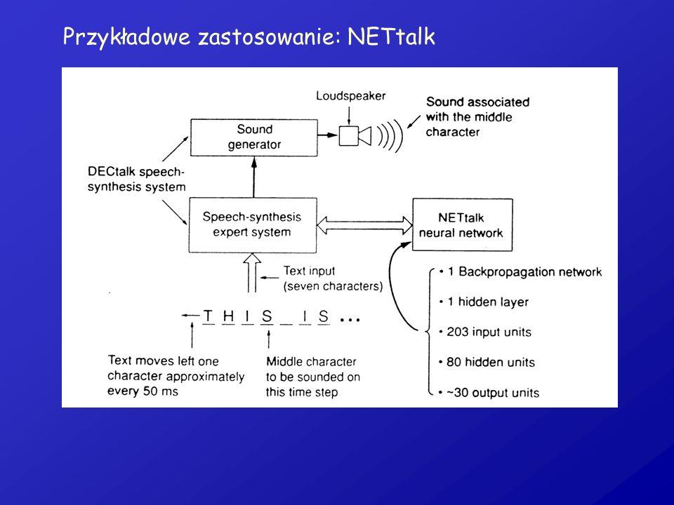 Przykładowe zastosowanie: NETtalk