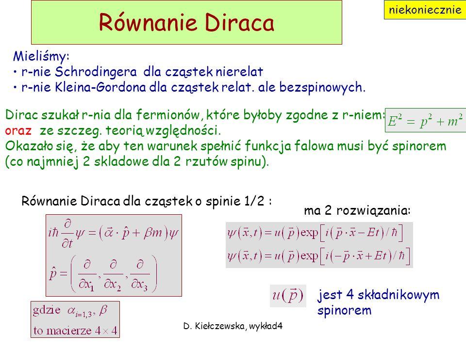 D. Kiełczewska, wykład 118 Analiza wymiarowa Jednostka: Przykład analizy wymiarowej: Dokładnie: gdzie to stała bezwymiarowa