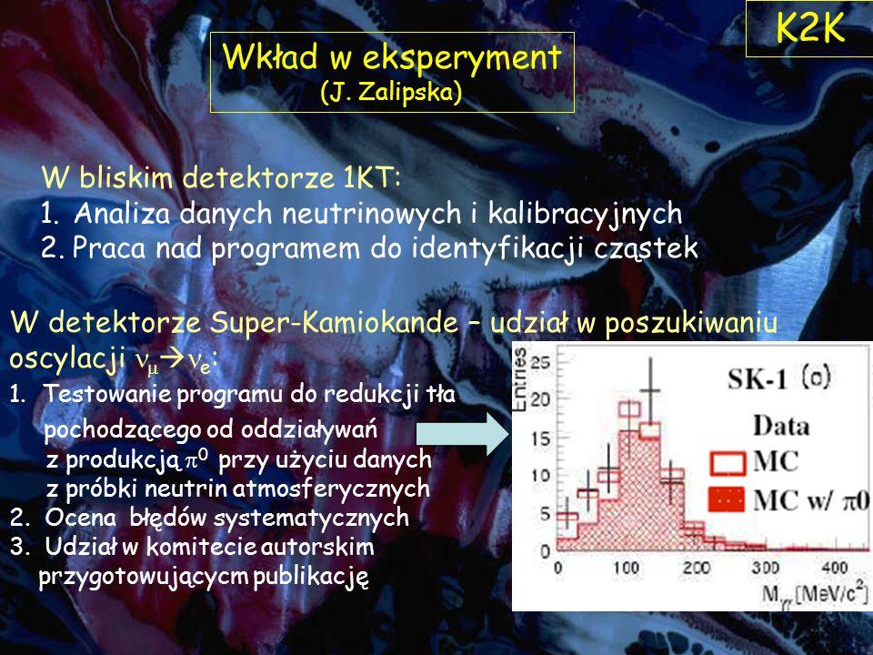 Wkład w eksperyment (J.