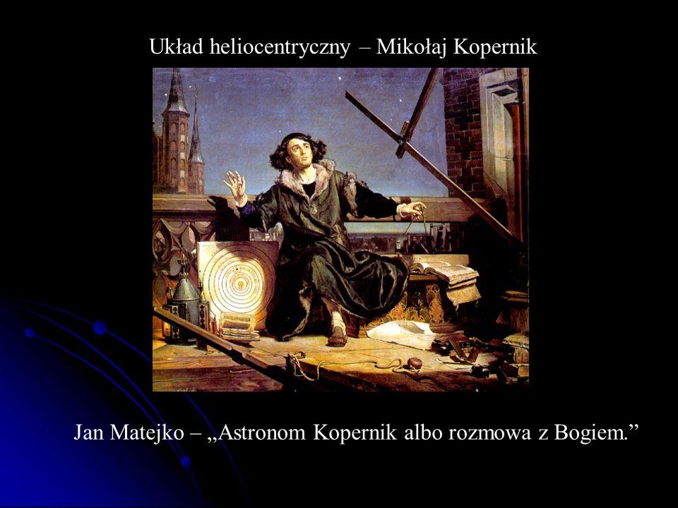 Układ heliocentryczny – Mikołaj Kopernik Jan Matejko – Astronom Kopernik albo rozmowa z Bogiem.