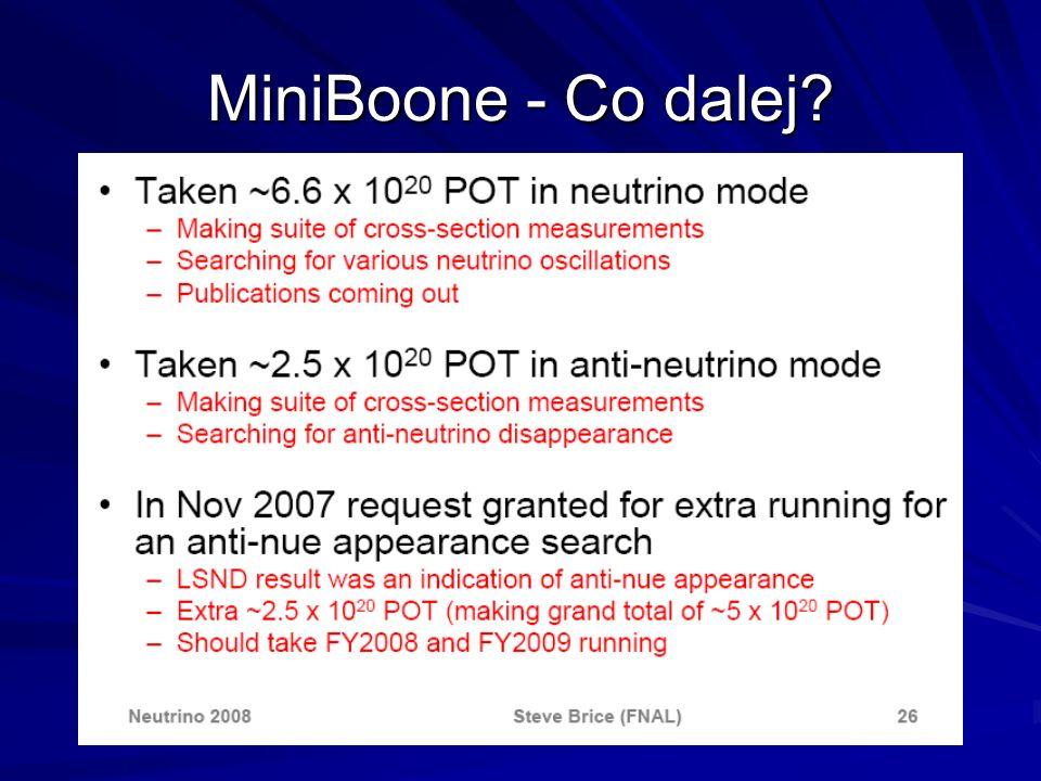 MiniBoone - Co dalej