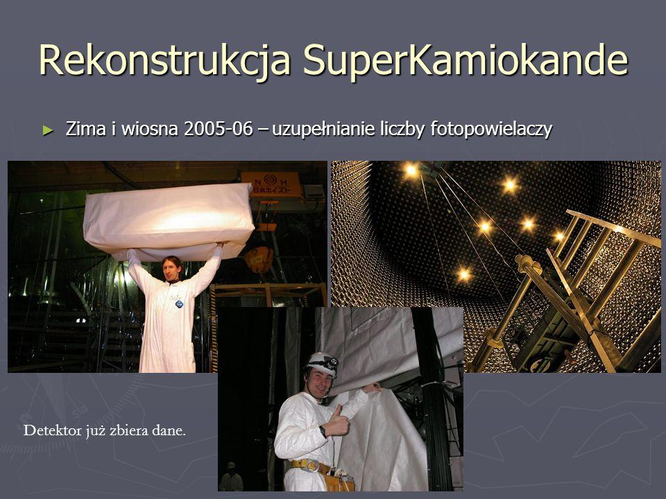 Rekonstrukcja SuperKamiokande Zima i wiosna 2005-06 – uzupełnianie liczby fotopowielaczy Zima i wiosna 2005-06 – uzupełnianie liczby fotopowielaczy De