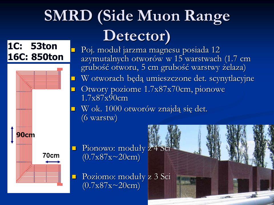 SMRD (Side Muon Range Detector) 1C: 53ton 16C: 850ton Poj.