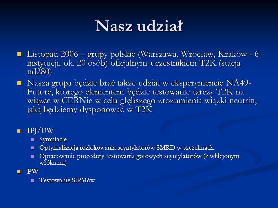 Nasz udział Listopad 2006 – grupy polskie (Warszawa, Wrocław, Kraków - 6 instytucji, ok.