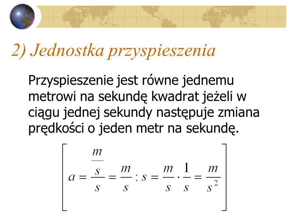 Wzór na przyspieszenie można rozpisać a - przyspieszenie V k - prędkość końcowa V o - prędkość początkowa t - czas