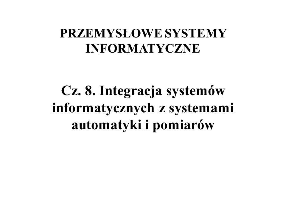 PRZEMYSŁOWE SYSTEMY INFORMATYCZNE Cz. 8. Integracja systemów informatycznych z systemami automatyki i pomiarów