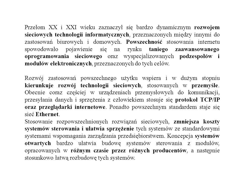 Przełom XX i XXI wieku zaznaczył się bardzo dynamicznym rozwojem sieciowych technologii informatycznych, przeznaczonych między innymi do zastosowań bi