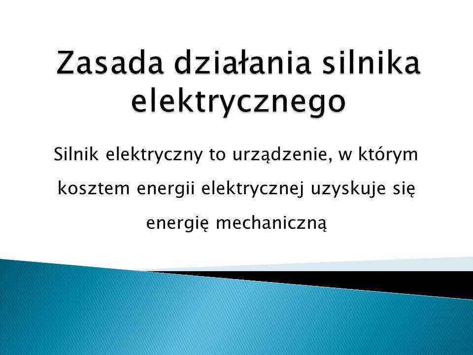 Silnik zasilany prądem przemiennym działa podobnie jak silnik prądu stałego.