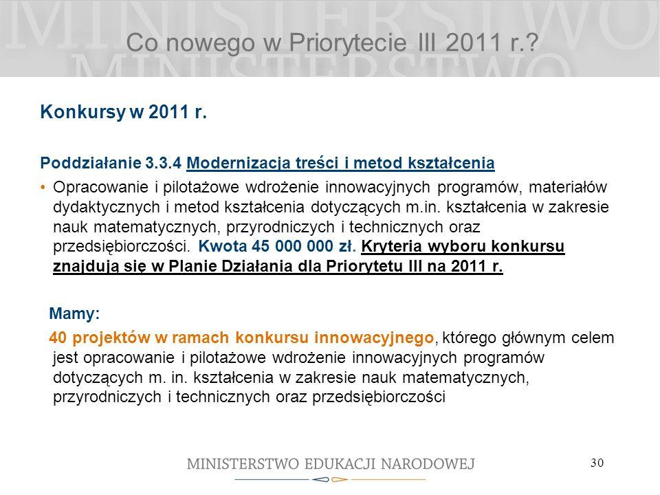 30 Konkursy w 2011 r.