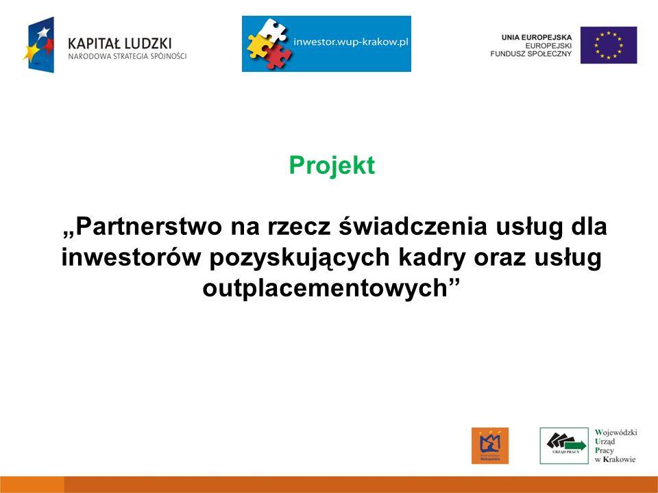 Projekt Partnerstwo na rzecz świadczenia usług dla inwestorów pozyskujących kadry oraz usług outplacementowych