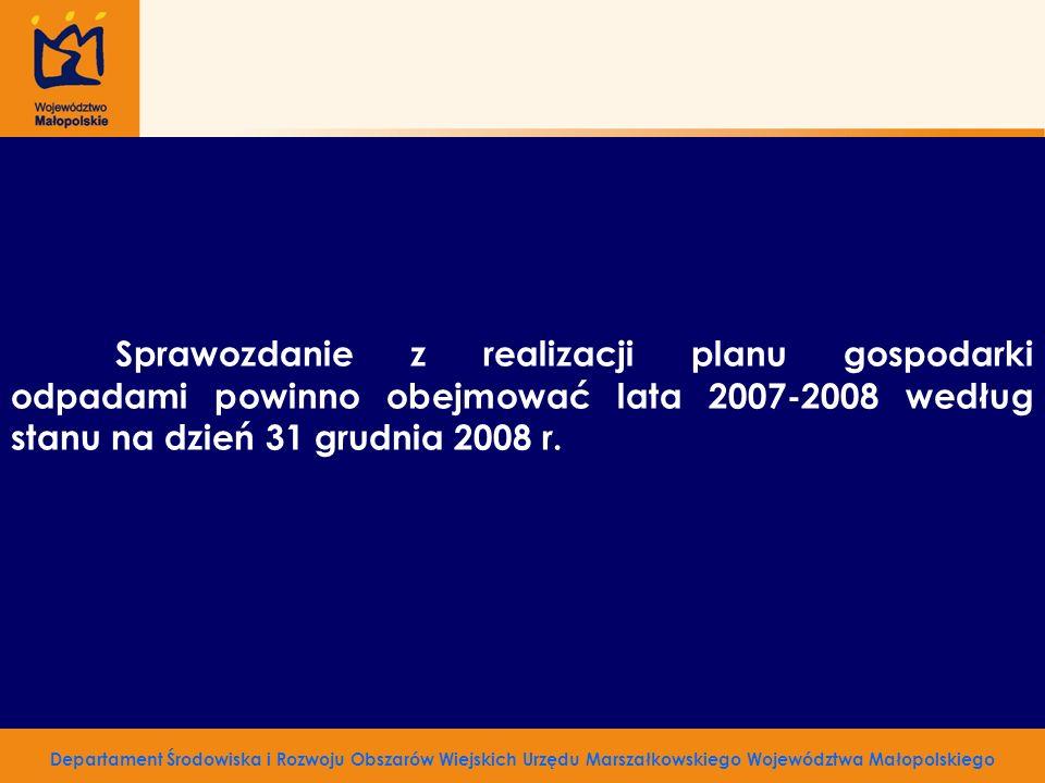 Zarząd Województwa Małopolskiego ul.Basztowa 22, 31- 156 Kraków Adres korespondencyjny: ul.