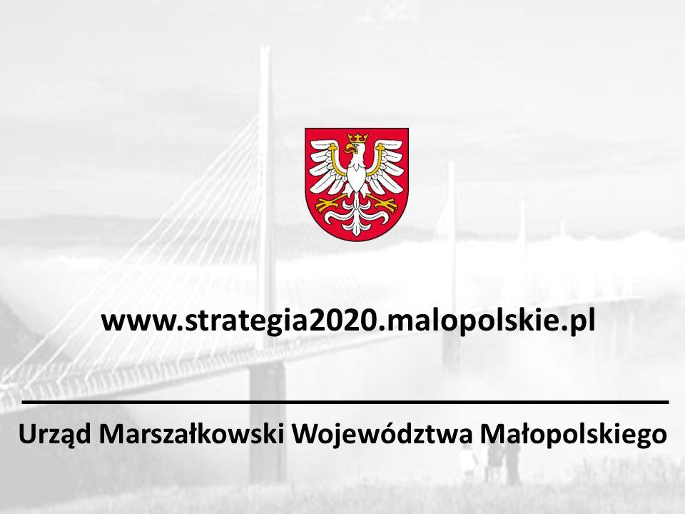 Urząd Marszałkowski Województwa Małopolskiego www.strategia2020.malopolskie.pl