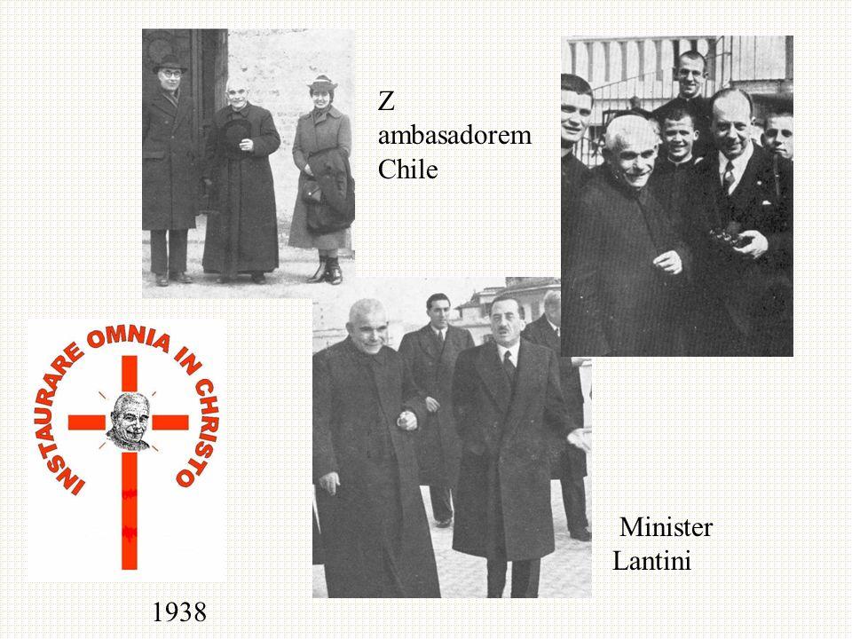 1938 Minister Lantini Z ambasadorem Chile