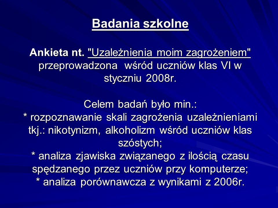 Badania szkolne Ankieta nt.