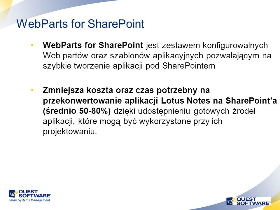 25 Konwersja aplikacji Notes do SharePoint Notes Mailboxes/ calendaring Pre-MigrationMigration Migrate/Coexist to Exchange Migrate to SharePoint Migra