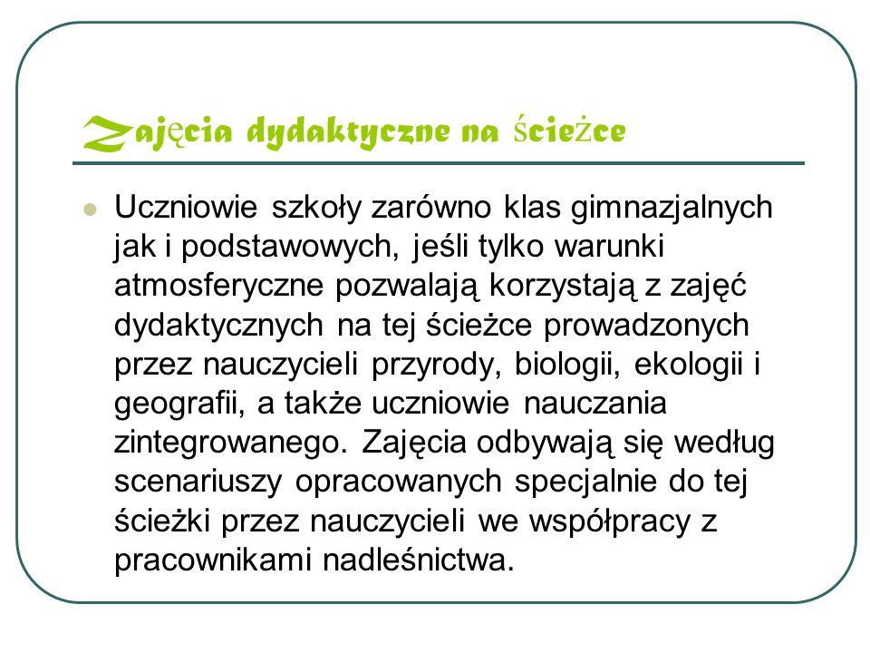 Trasa ś cie ż ki Trasa ścieżki wiedzie od szkoły w Czerninie poprzez drzewostany leśnictwa Sułków aż do miejscowości Strumyk.