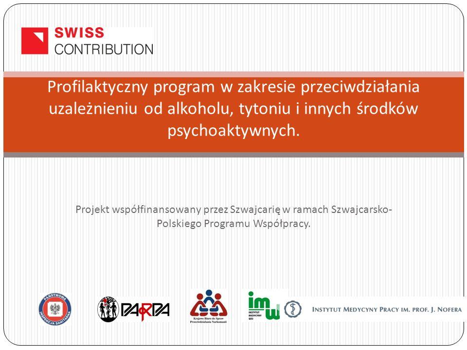 Projekt współfinansowany przez Szwajcarię w ramach Szwajcarsko- Polskiego Programu Współpracy.