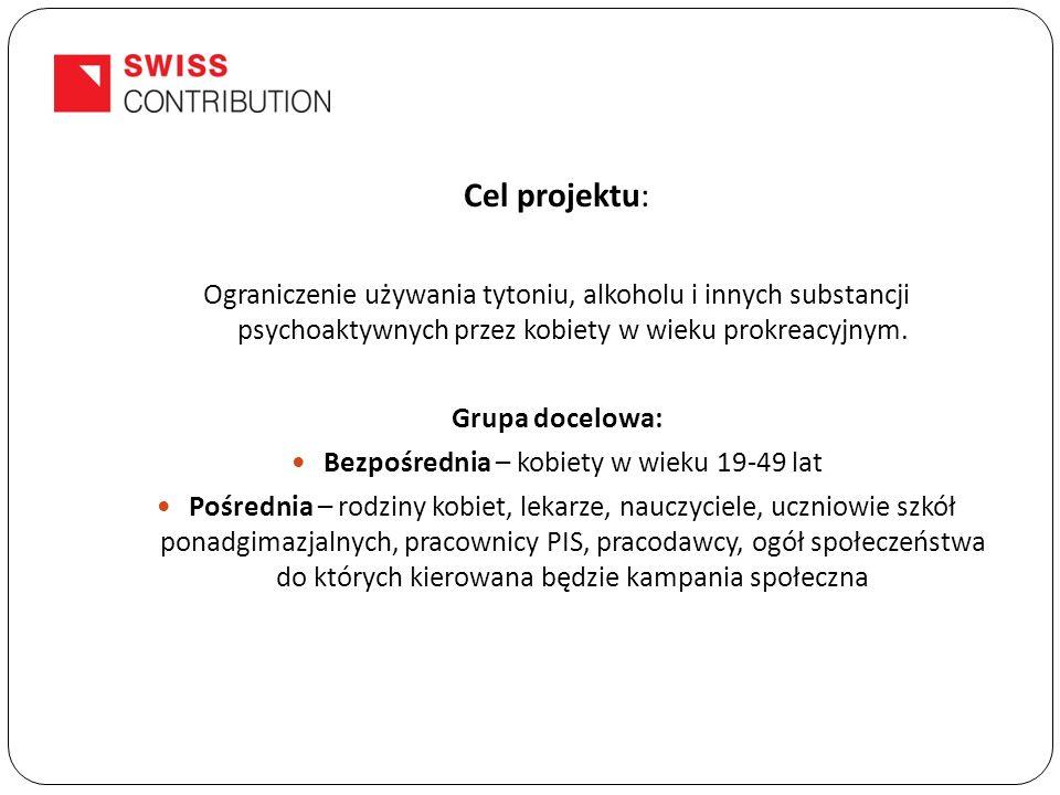 Cel projektu: Ograniczenie używania tytoniu, alkoholu i innych substancji psychoaktywnych przez kobiety w wieku prokreacyjnym.