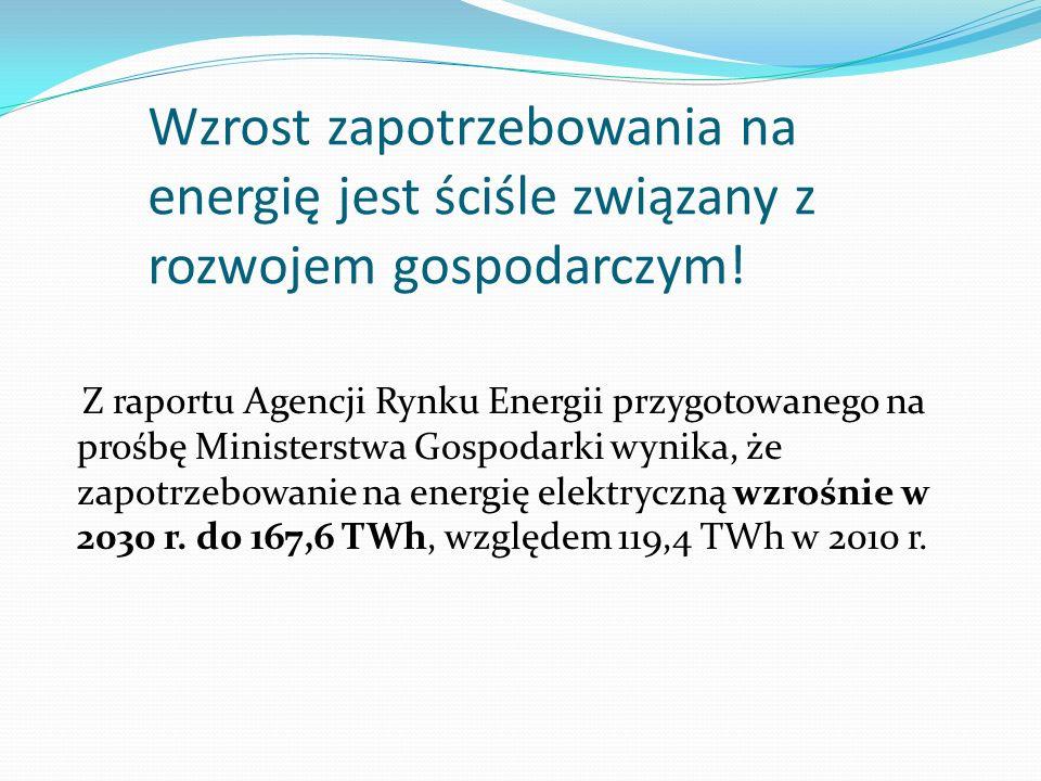 Wzrost zapotrzebowania na energię jest ściśle związany z rozwojem gospodarczym! Z raportu Agencji Rynku Energii przygotowanego na prośbę Ministerstwa