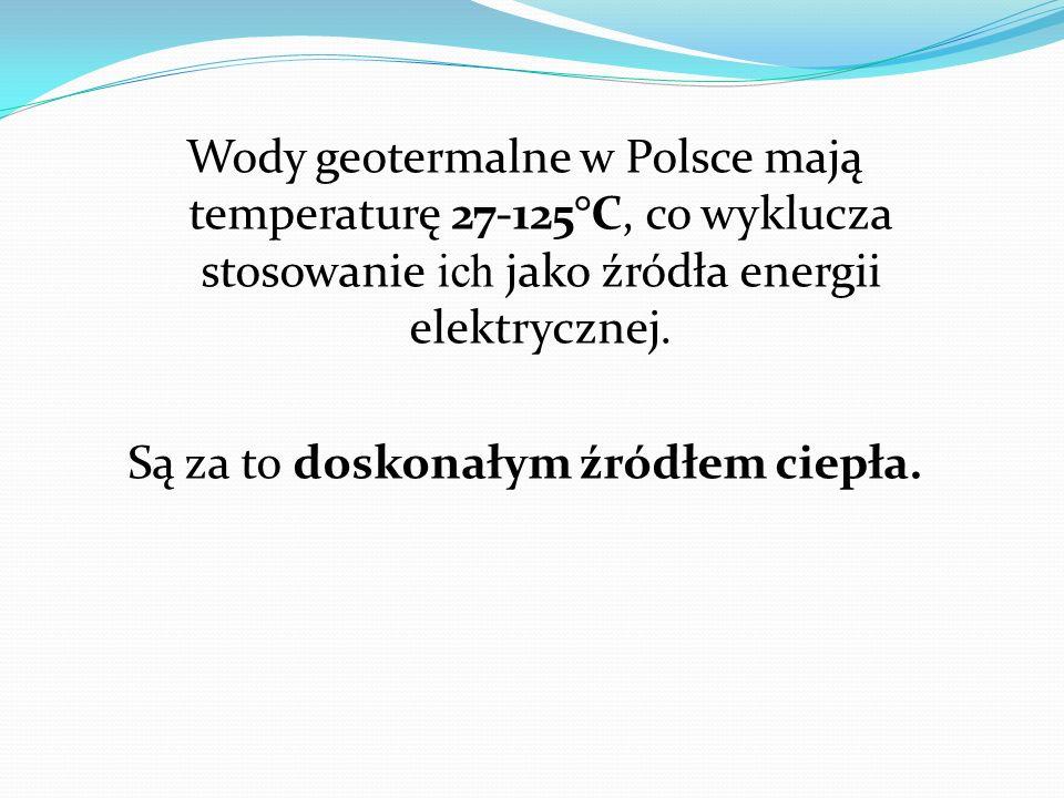 Wody geotermalne w Polsce mają temperaturę 27-125°C, co wyklucza stosowanie ich jako źródła energii elektrycznej. Są za to doskonałym źródłem ciepła.