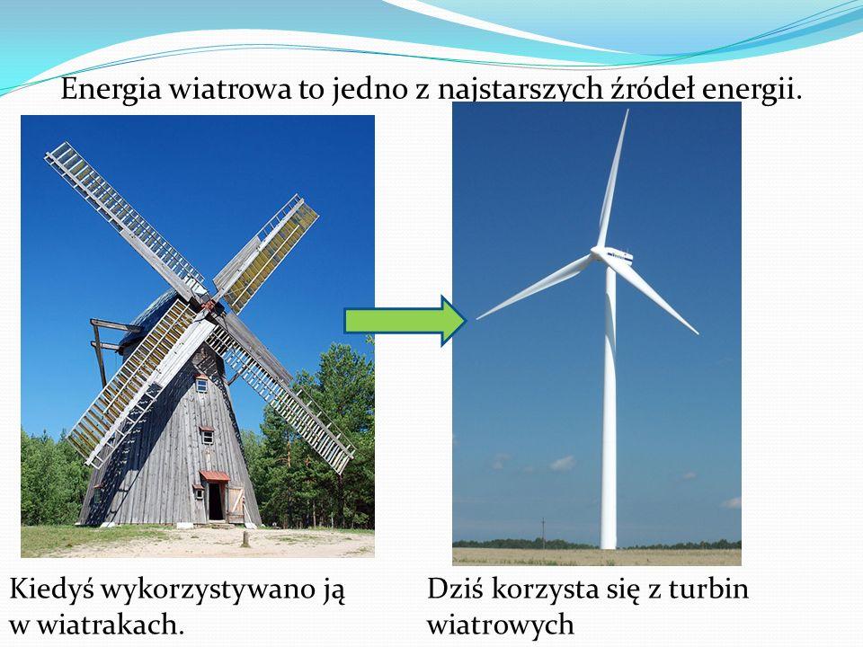 Energia wiatrowa to jedno z najstarszych źródeł energii. Kiedyś wykorzystywano ją w wiatrakach. Dziś korzysta się z turbin wiatrowych