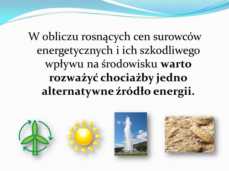 W obliczu rosnących cen surowców energetycznych i ich szkodliwego wpływu na środowisku warto rozważyć chociażby jedno alternatywne źródło energii.