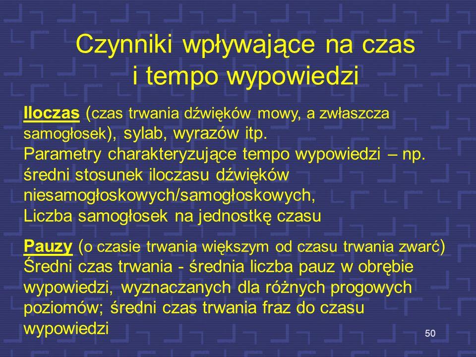 Cechy prozodyczne w automatycznym rozumieniu mowy 49 Informacje prozodyczne są b. rzadko wykorzystywane w systemach rozumienia mowy Analiza prozodyczn