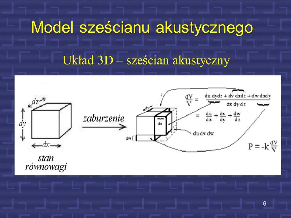 7 Drugie prawo Newtona w układzie 3D bezwładność - przyśpieszenie- masa elementu- ρ 0 dxdydz P 0 – ciśnienie równowagi