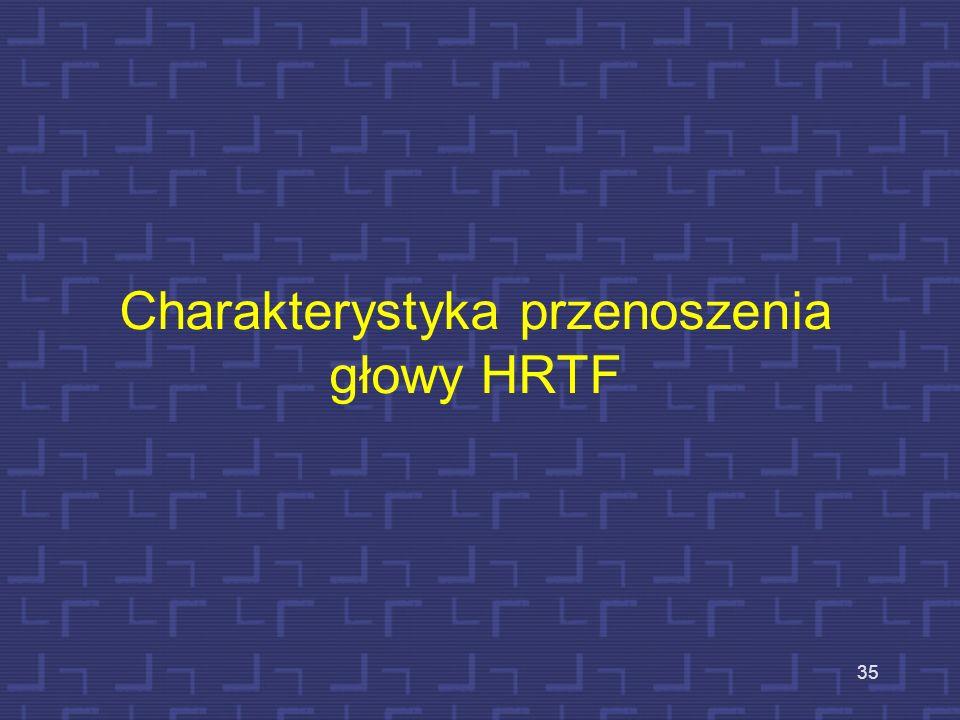 Charakterystyka przenoszenia głowy HRTF 35