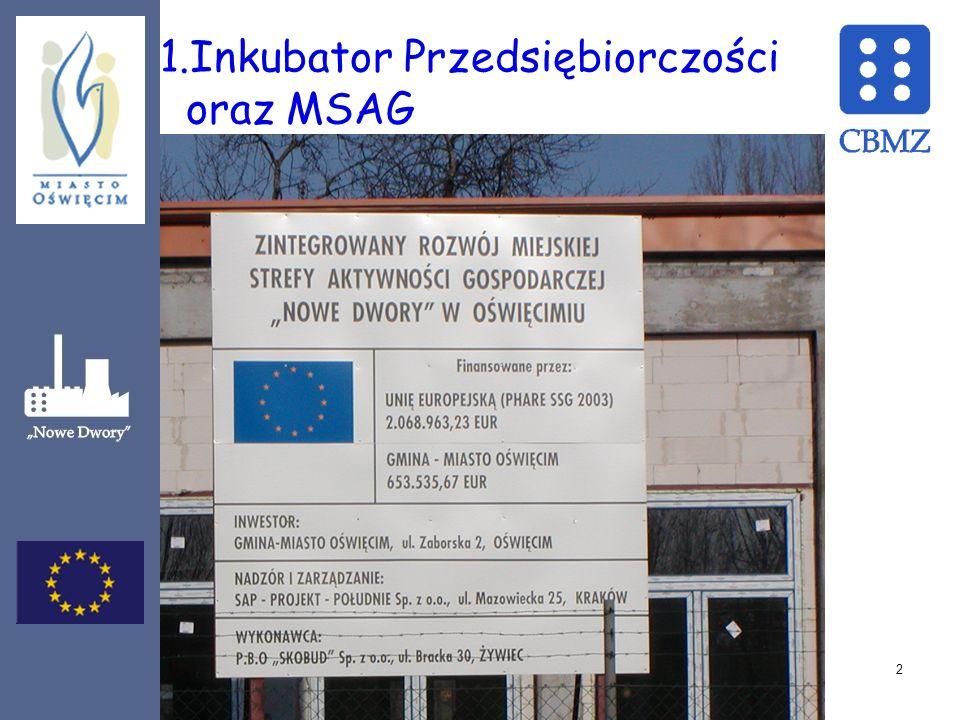 1.Inkubator Przedsiębiorczości oraz MSAG 2