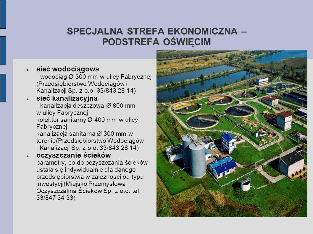 SPECJALNA STREFA EKONOMICZNA – PODSTREFA OŚWIĘCIM sieć wodociągowa - wodociąg Ø 300 mm w ulicy Fabrycznej (Przedsiębiorstwo Wodociągów i Kanalizacji S
