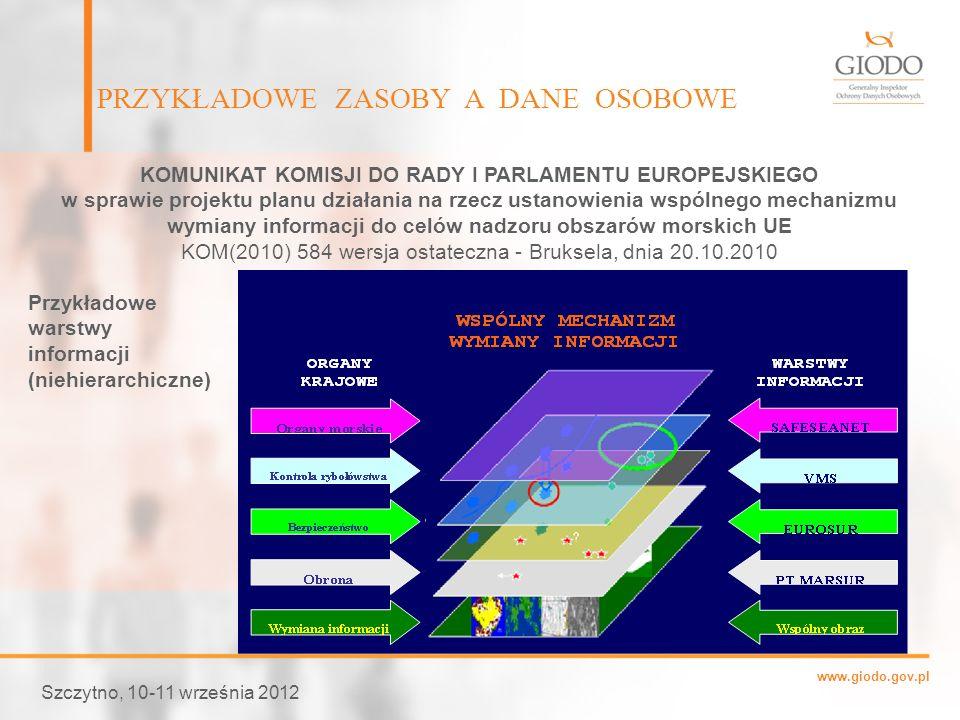 www.giodo.gov.pl Szczytno, 10-11 września 2012 KOMUNIKAT KOMISJI DO RADY I PARLAMENTU EUROPEJSKIEGO w sprawie projektu planu działania na rzecz ustano