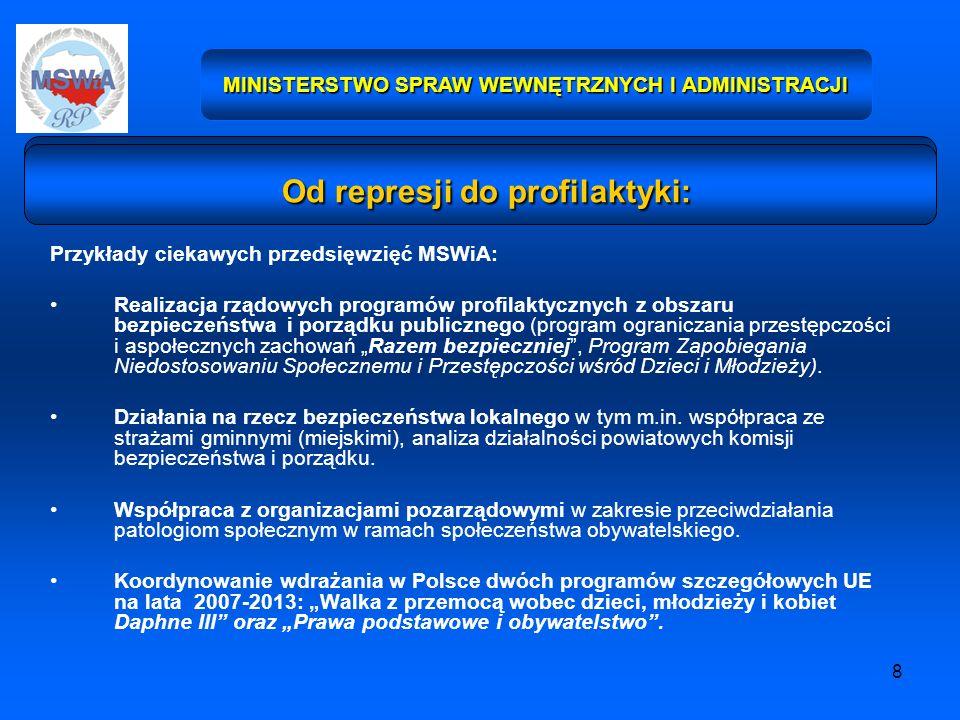8 Przykłady ciekawych przedsięwzięć MSWiA: Realizacja rządowych programów profilaktycznych z obszaru bezpieczeństwa i porządku publicznego (program og