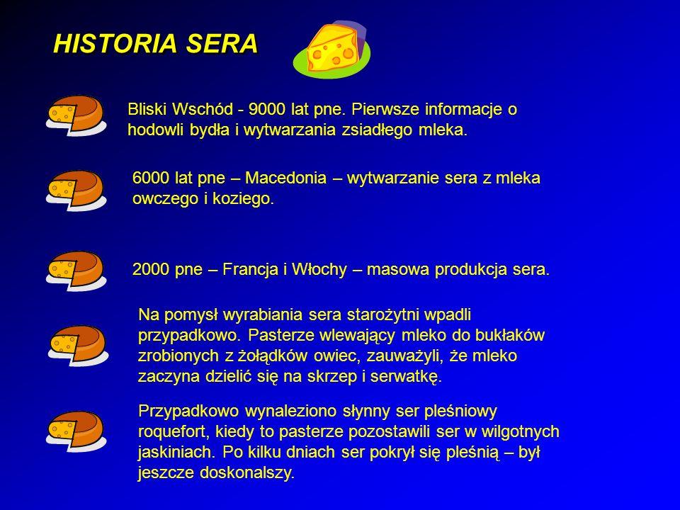 HISTORIA SERA Bliski Wschód - 9000 lat pne.
