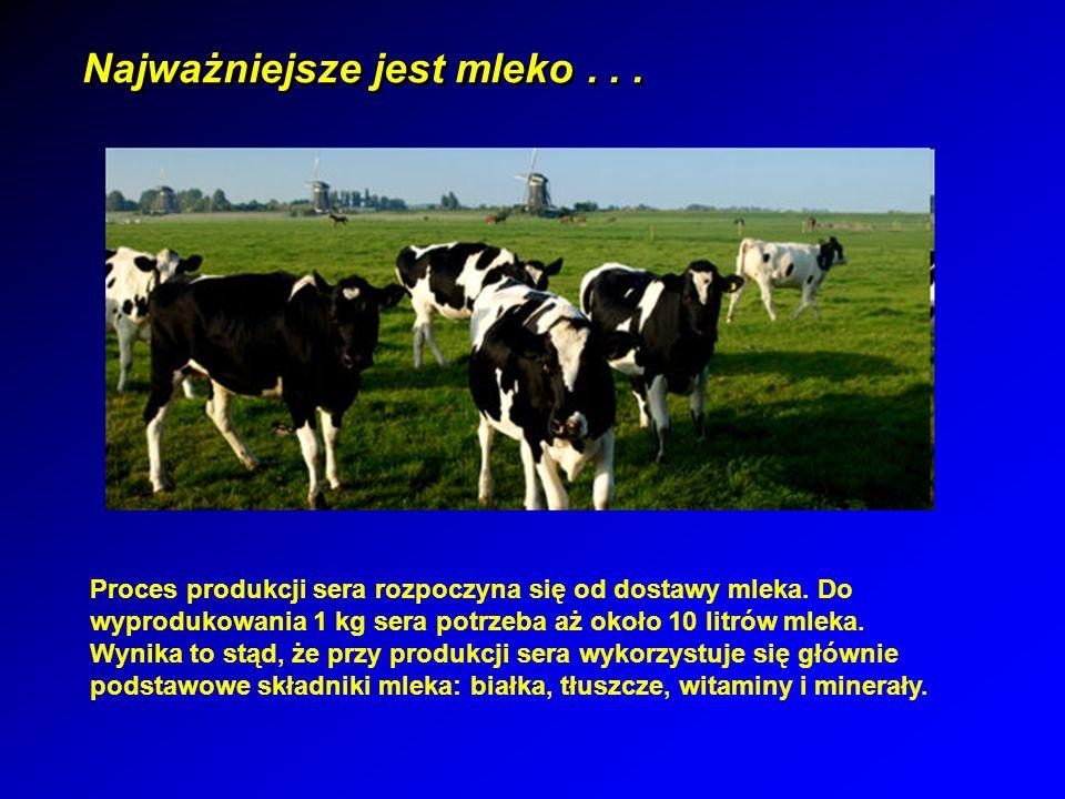 Technologia produkcji serów Wstępna obróbka mleka : pozostawienie mleka w chłodnym miejscu na noc i zebranie wydzielonej śmietany – w przemysłowej produkcji stosowane są natomiast specjalne wirówki.