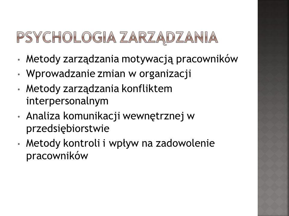 Charakterystyka zachowań organizacyjnych w wybranym przedsiębiorstwie (instytucji, organizacji) Grupa pracownicza w wybranej organizacji Dynamika rozwoju grupy (organizacji) w wybranym przedsiębiorstwie (organizacji, instytucji) Analiza komunikacji w grupie (organizacji)