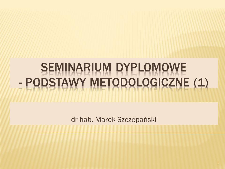 dr hab. Marek Szczepański 1