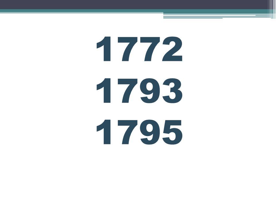 1772 Pierwszy rozbiór Polski Prusy Austria Rosja