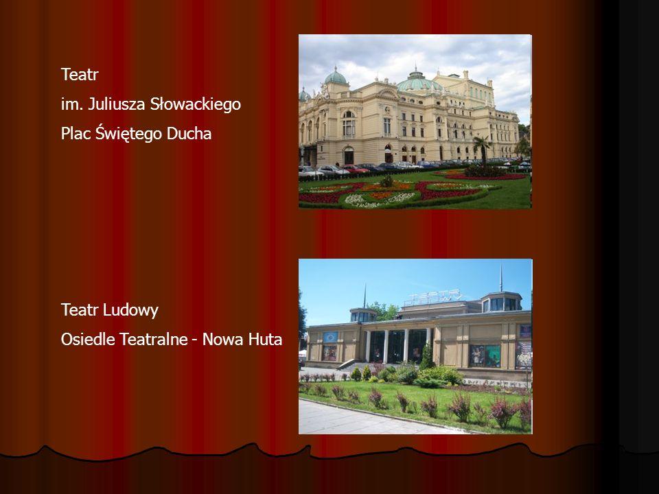 Teatr im. Juliusza Słowackiego Plac Świętego Ducha Teatr Ludowy Osiedle Teatralne - Nowa Huta