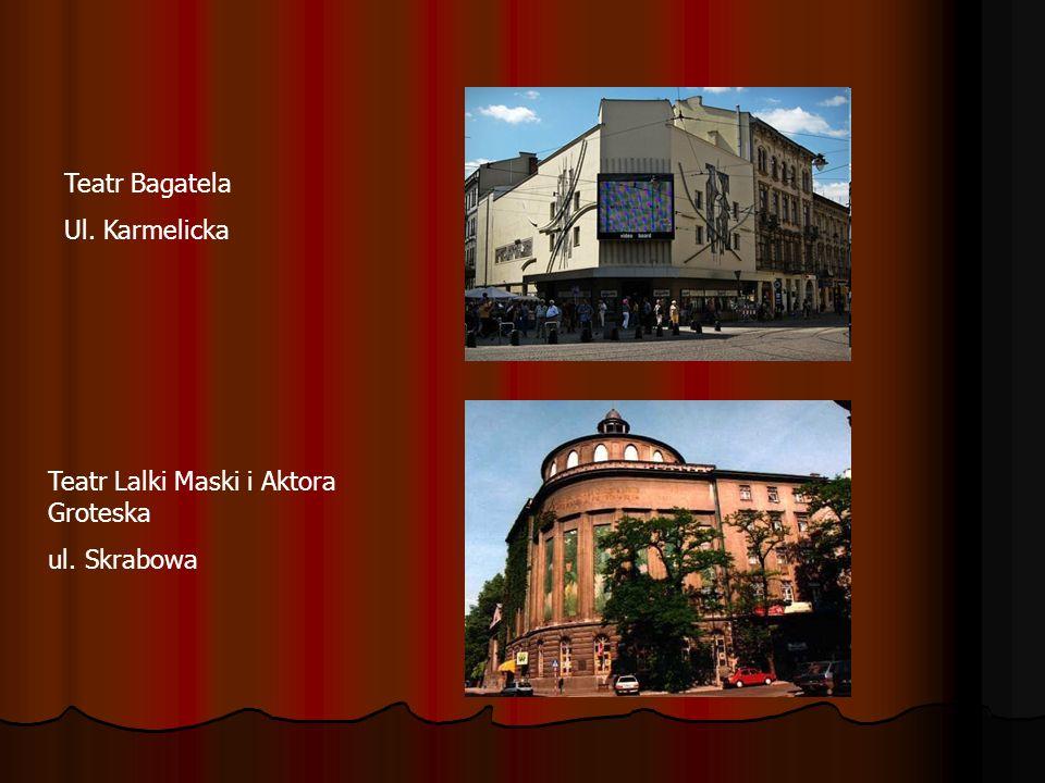 Krakowski Teatr scena STU Aleja Krasińskiego Teatr KTO ul. Gzymsików Teatr Nowy ul. Gazowa