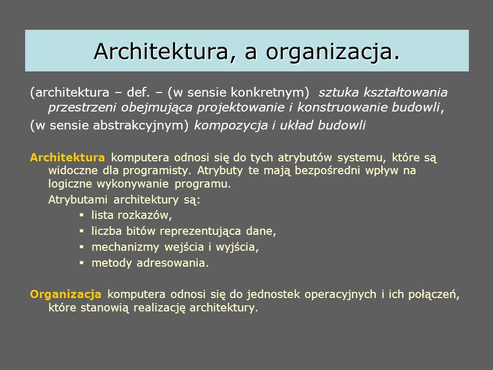 Architektura, a organizacja. (architektura – def. – (w sensie konkretnym) sztuka kształtowania przestrzeni obejmująca projektowanie i konstruowanie bu