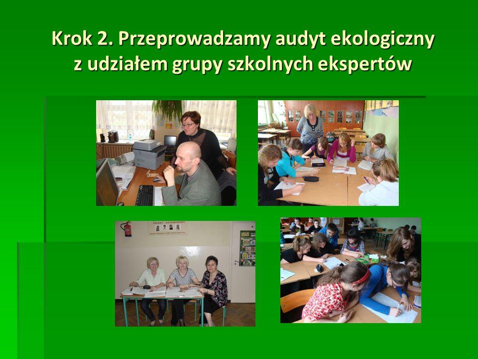 Krok 2. Przeprowadzamy audyt ekologiczny z udziałem grupy szkolnych ekspertów