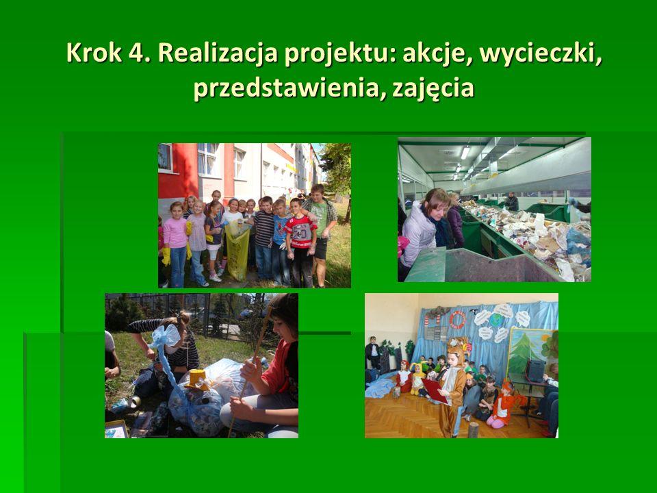 Krok 4. Realizacja projektu: akcje, wycieczki, przedstawienia, zajęcia