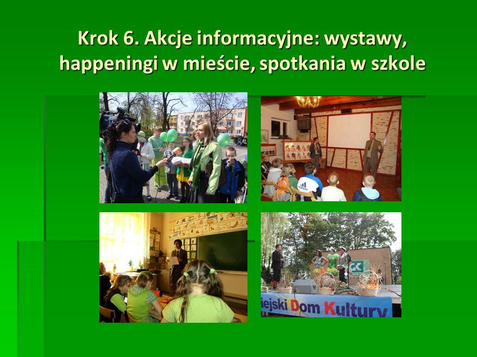 Krok 6. Akcje informacyjne: wystawy, happeningi w mieście, spotkania w szkole