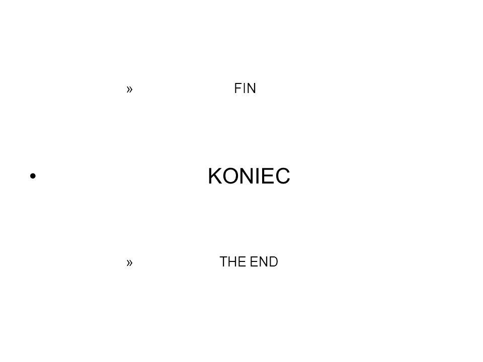 » FIN KONIEC » THE END