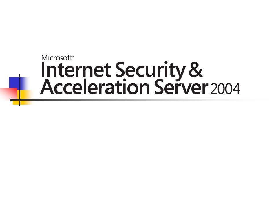 Czym jest ISA 2004 Pełny Firewall Zawansowane mechanizmy bezpieczeństwa dla aplikacji MS Wbudowane filtry dla aplikacji MS Blokowanie ataków VPN Proxy i Cache Microsoft Internet Security and Acceleration Server 2004 jest zaawansowaną zapora filtrującą ruch w warstwie aplikacji.
