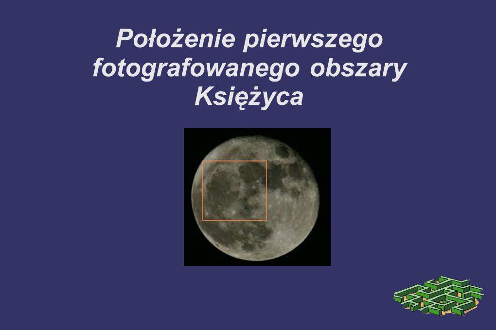 Położenie pierwszego fotografowanego obszary Księżyca